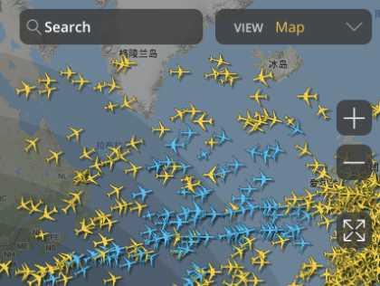 查看全球实时航班信息